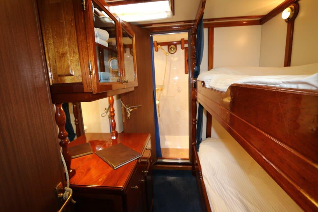 schiff kabine vorne oder hinten