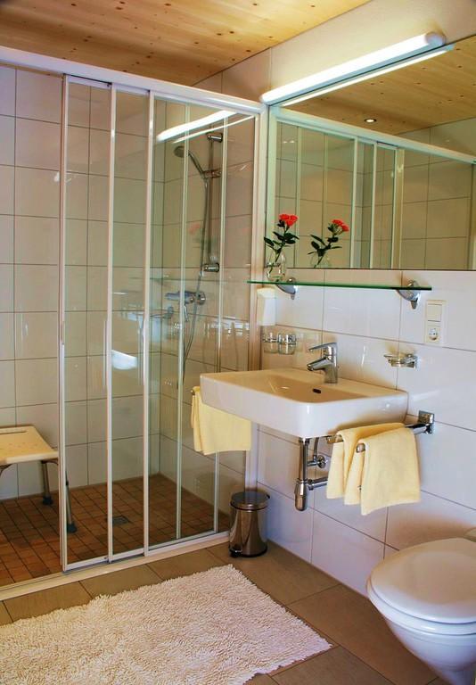 bild behindertengerechte dusche wc zu alpenapart haus. Black Bedroom Furniture Sets. Home Design Ideas