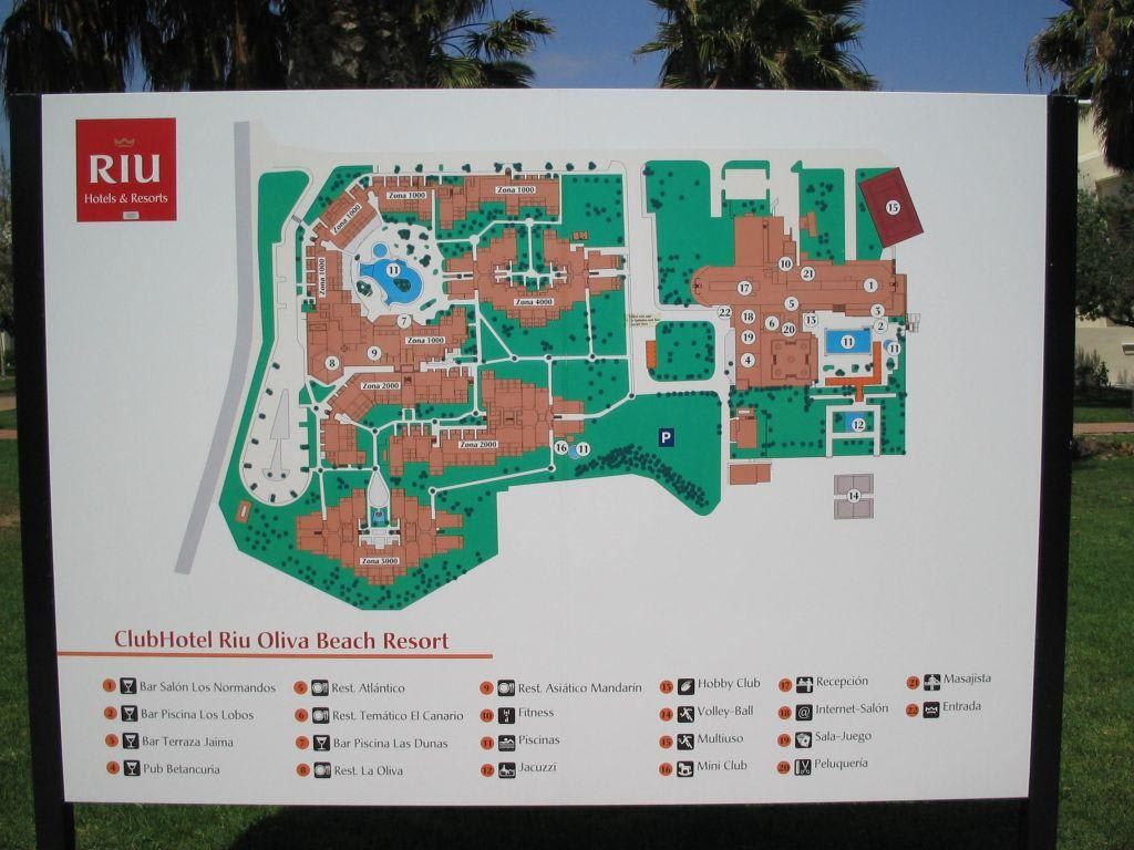 Bild lageplan olivia beach app zu hotel riu oliva beach for Riu oliva beach village