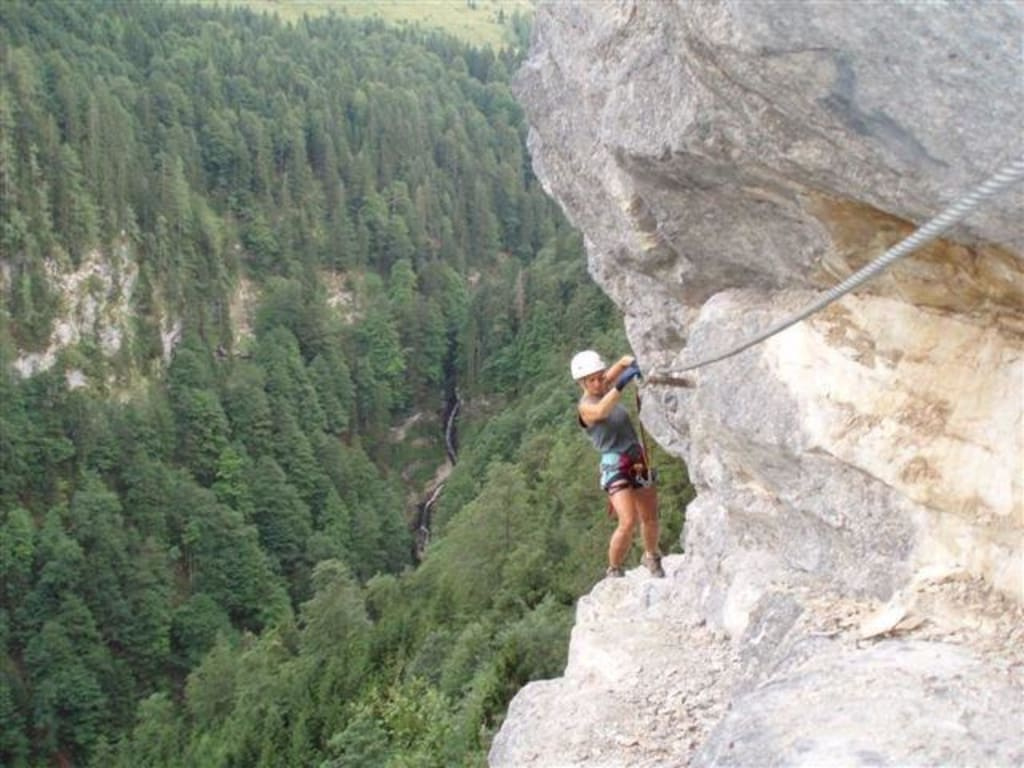 Klettersteig Postalm : Alpine geckos postalmklamm klettersteig d mit sesi und motzi