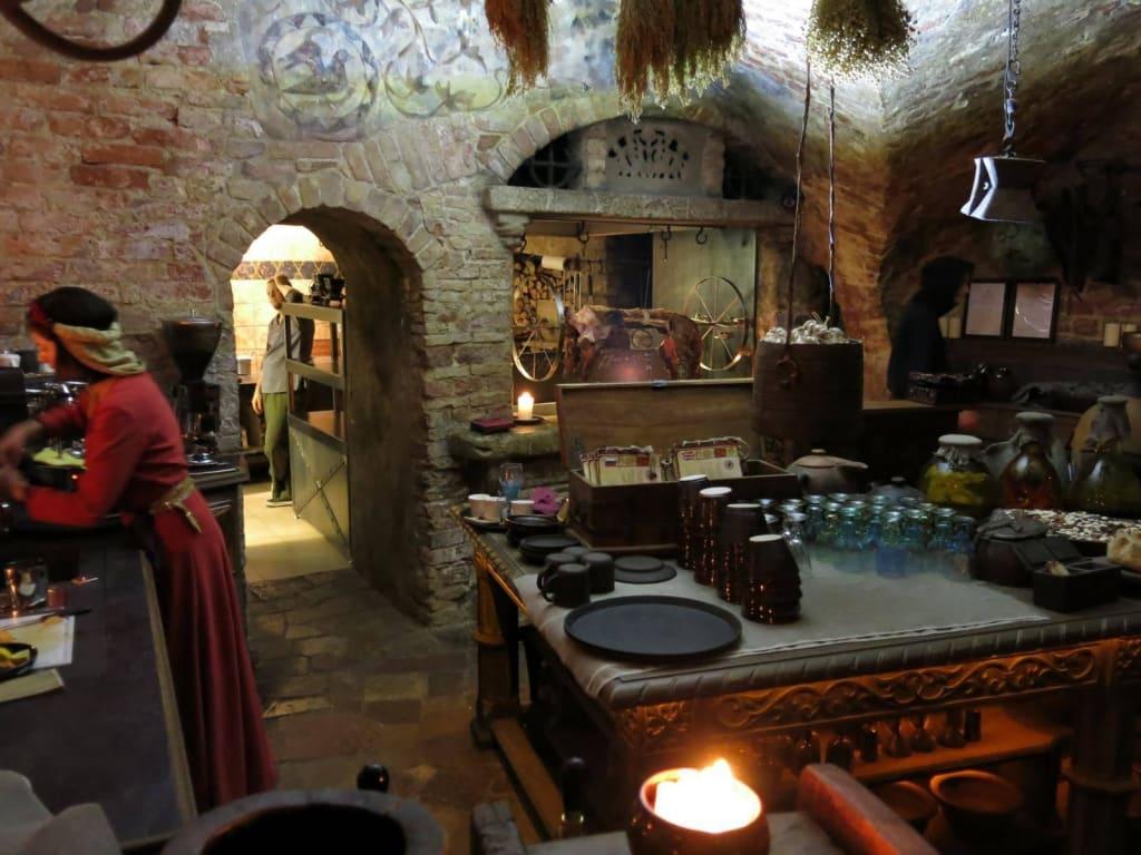Good Die Mittelalterliche Küche