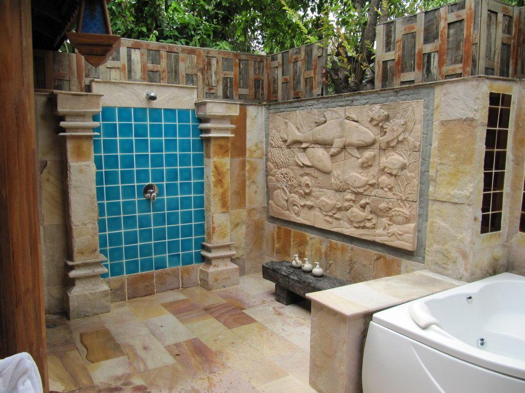 bild au endusche ocean view pool villa zu santhiya koh phangan resort spa in thong nai pan beach. Black Bedroom Furniture Sets. Home Design Ideas