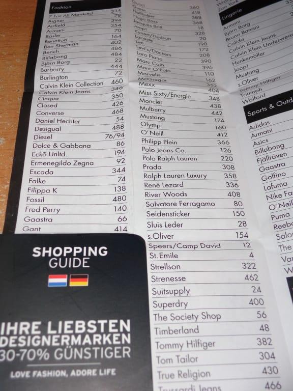 roermond outlet läden plan