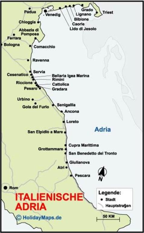 Bild Karte Von Der Adria Italien Zu Molise In Molise
