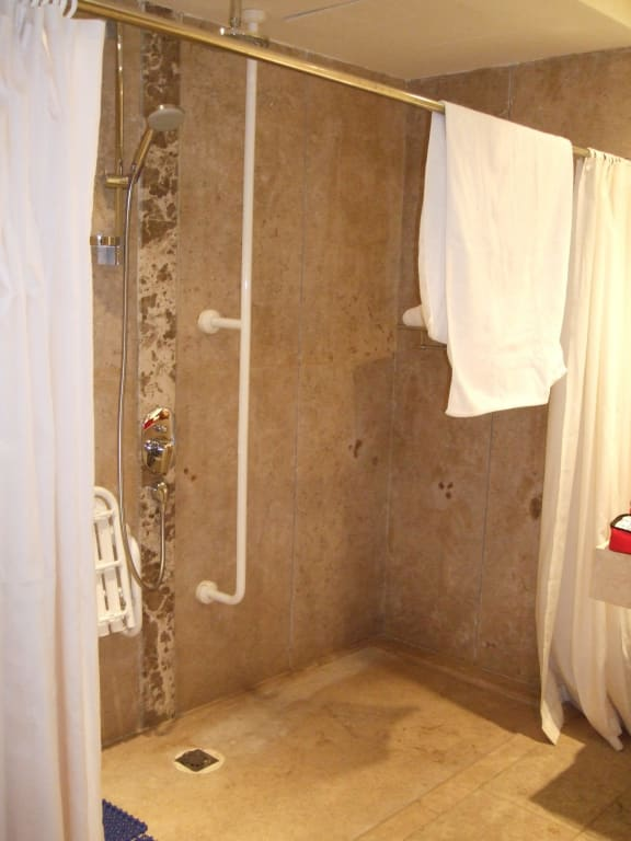 bild gro z gige behindertengerechte dusche zu club. Black Bedroom Furniture Sets. Home Design Ideas