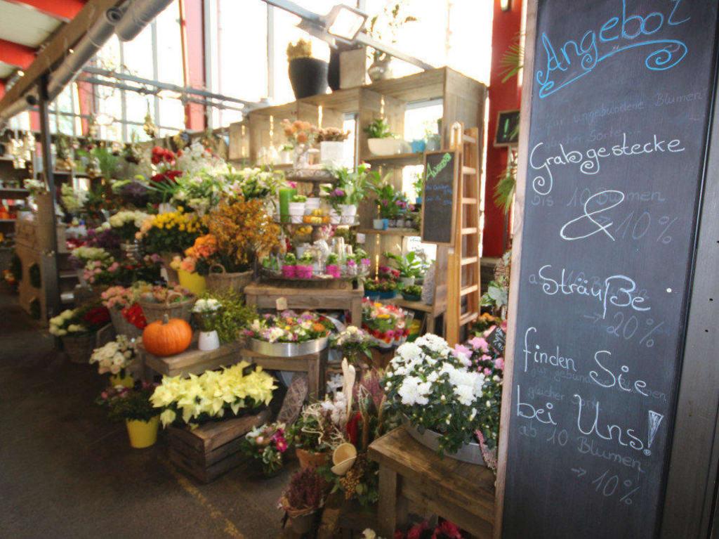 bild marktstand blumen zu markthalle in hannover. Black Bedroom Furniture Sets. Home Design Ideas