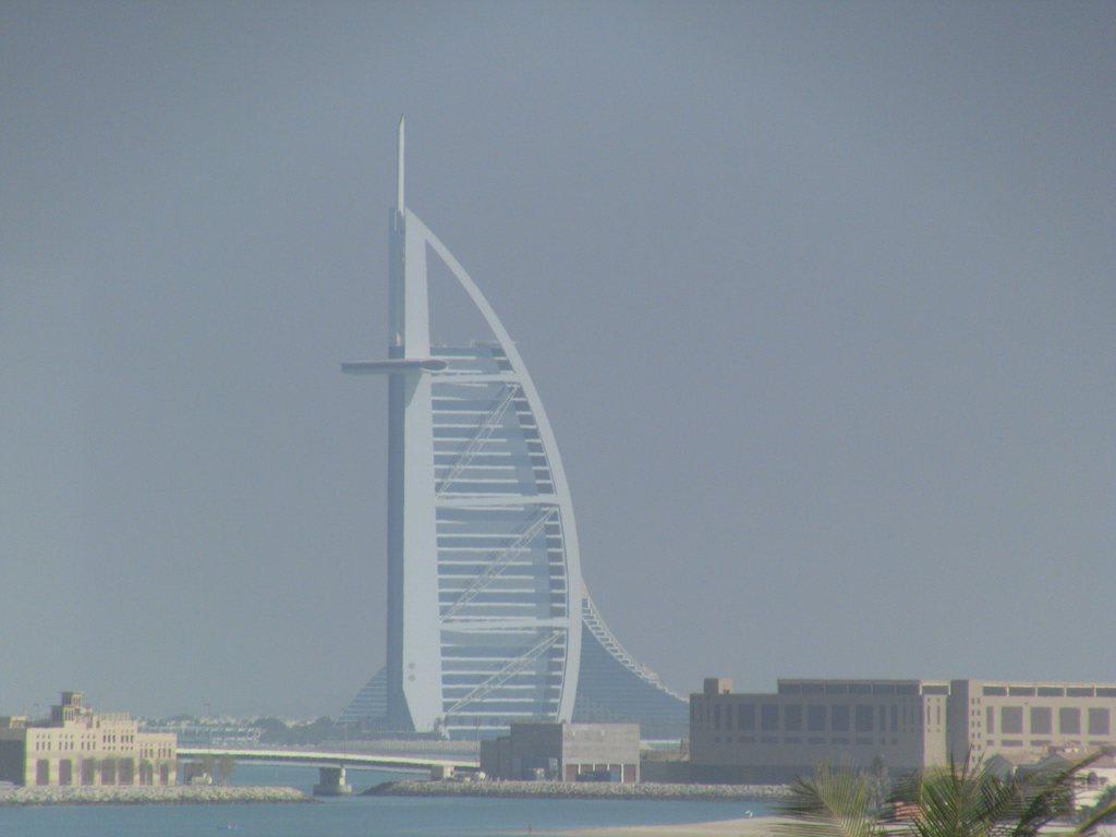 Bild Burj Al Arab Zu Burj Khalifa Ex Burj Dubai In Dubai