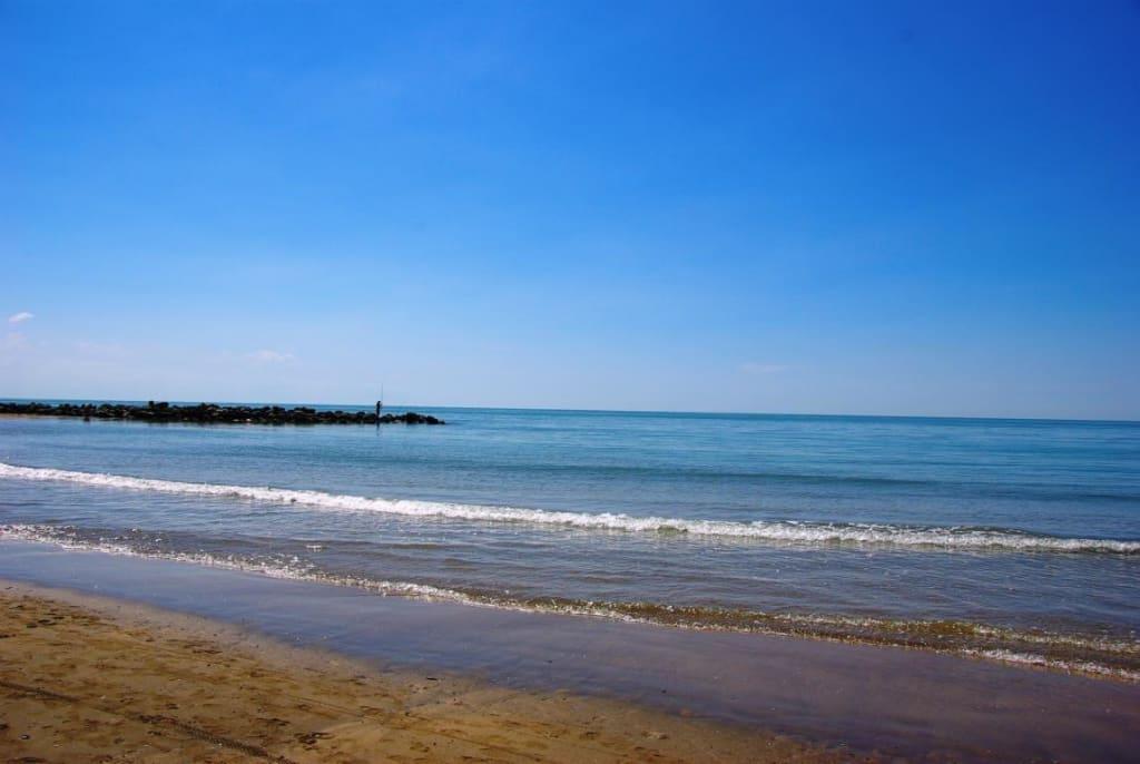 Richtung Leuchtturm | Bilder Strand/Küste/Hafen Strand BibioneRichtung Leuchtturm