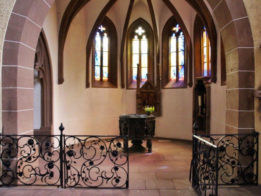 Taufkapelle Taufbecken von 1427 Bilder Tempel/Kirche/Grabmal Münsterkirche St. Alexandri