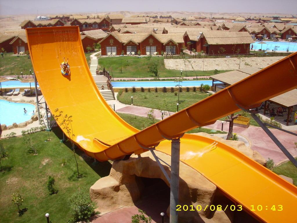 bild eine der rutschen im aqua park zu hotel fantasia 1001 nacht alf leila wa leila in hurghada. Black Bedroom Furniture Sets. Home Design Ideas