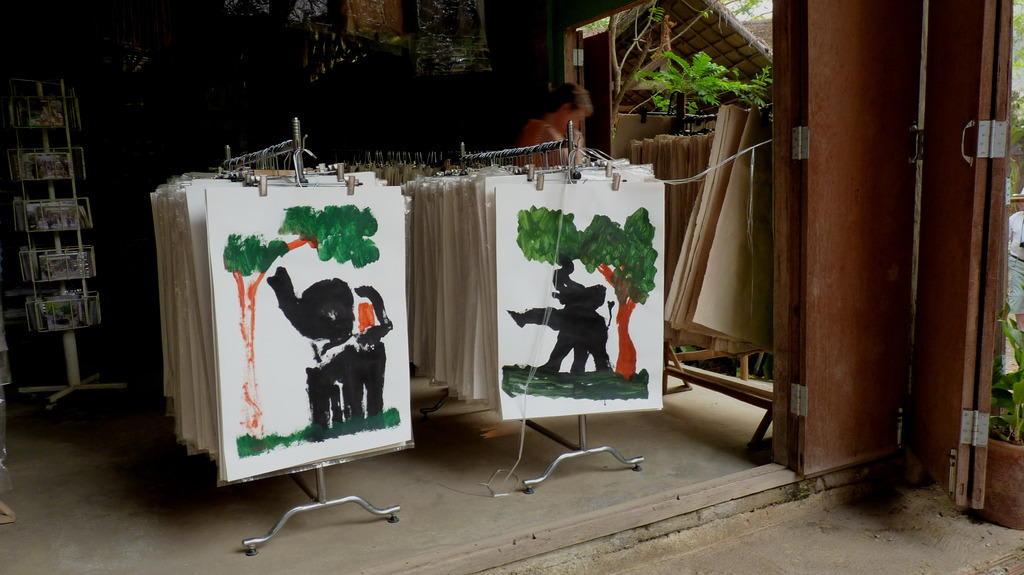 elefanten bild gemalt