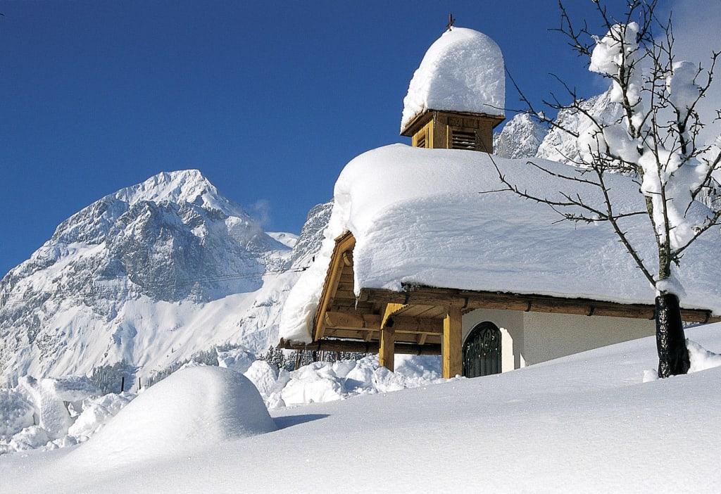 bild verschneite winterlandschaft tennengebirge zu st. Black Bedroom Furniture Sets. Home Design Ideas
