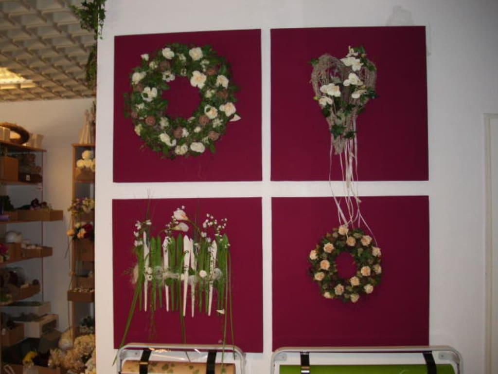 bild floraler wandschmuck zu blumenkunst in bad salzuflen. Black Bedroom Furniture Sets. Home Design Ideas