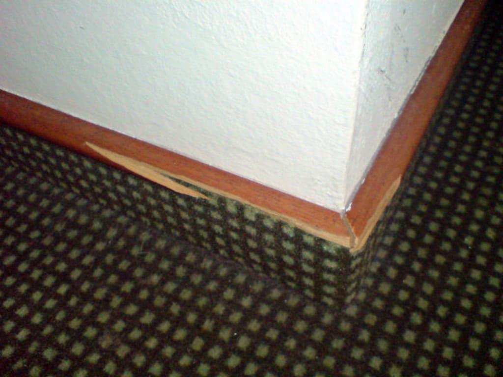 Bild Teppichleiste abgesplittert zu Hotel Rheingauer Tor