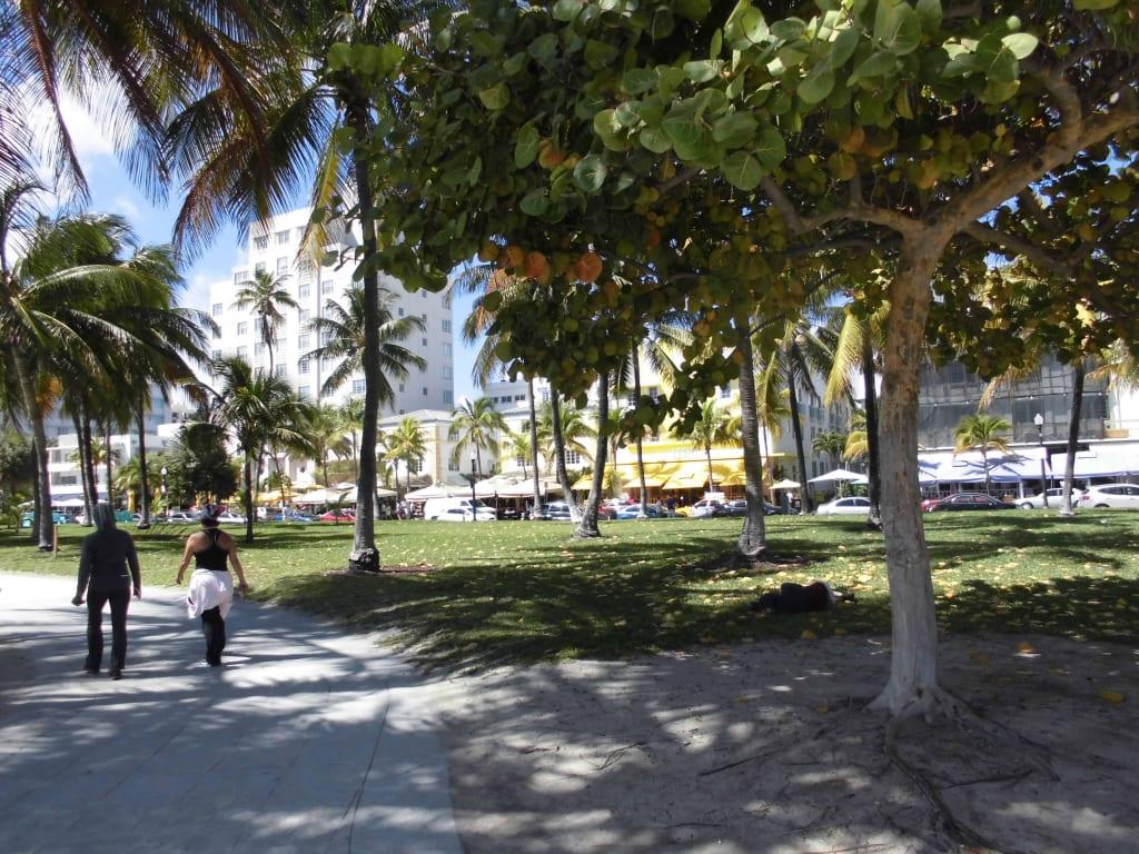 "bild ""promenade höhe ocean drive"" zu miami beach boardwalk"