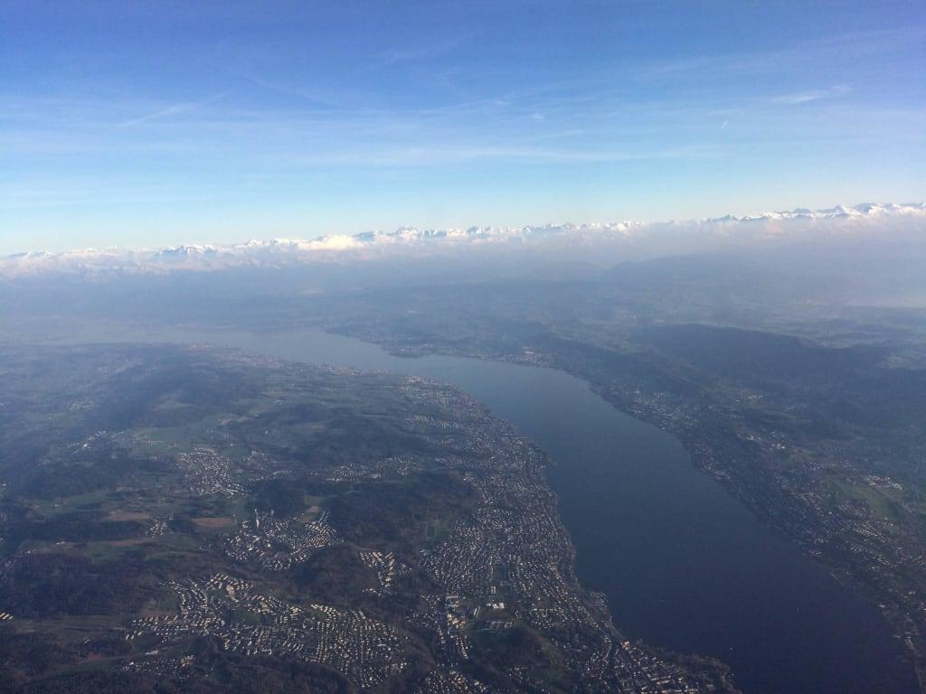 Bild Blick Vom Flugzeug Auf Den Zürichsee Zu Zürichsee In Zürich