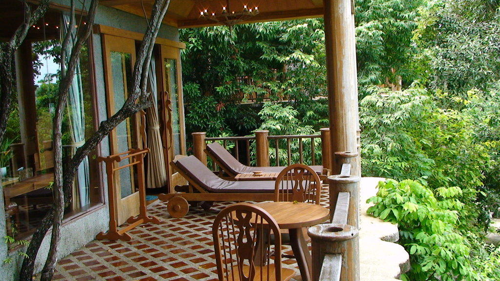 bild die gro e terrasse am hang ein traum zu hotel. Black Bedroom Furniture Sets. Home Design Ideas