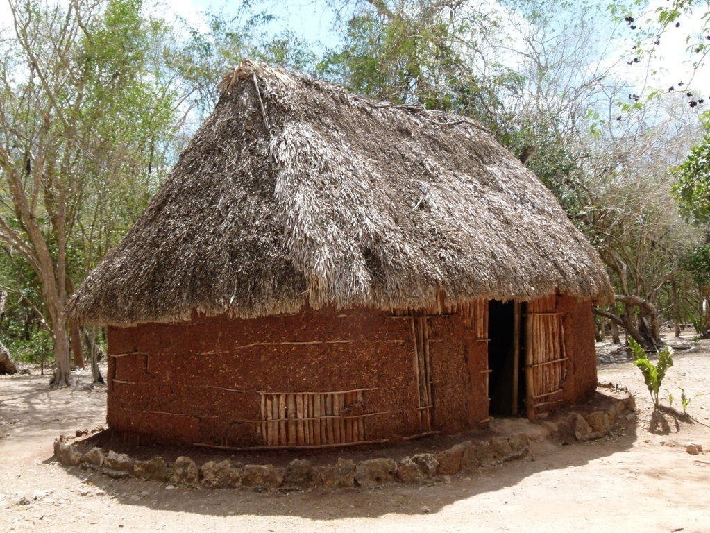 Hütte der Mayas Bilder  Ruine Chichén Itzá