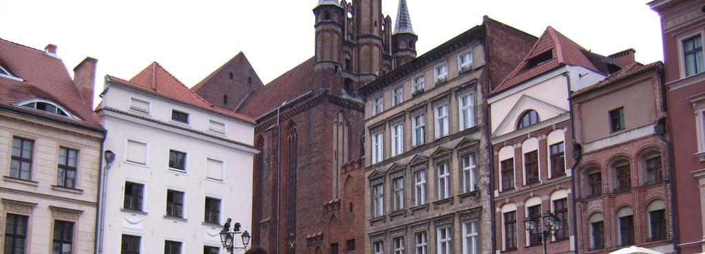 Bild Quot Torun Altstadt Dahinter Marienkirche Quot Zu Altstadt