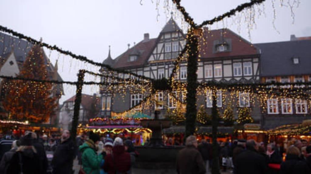 Goslar Weihnachtsmarkt.Bild Goslar Weihnachtsmarkt Zu Weihnachtsmarkt
