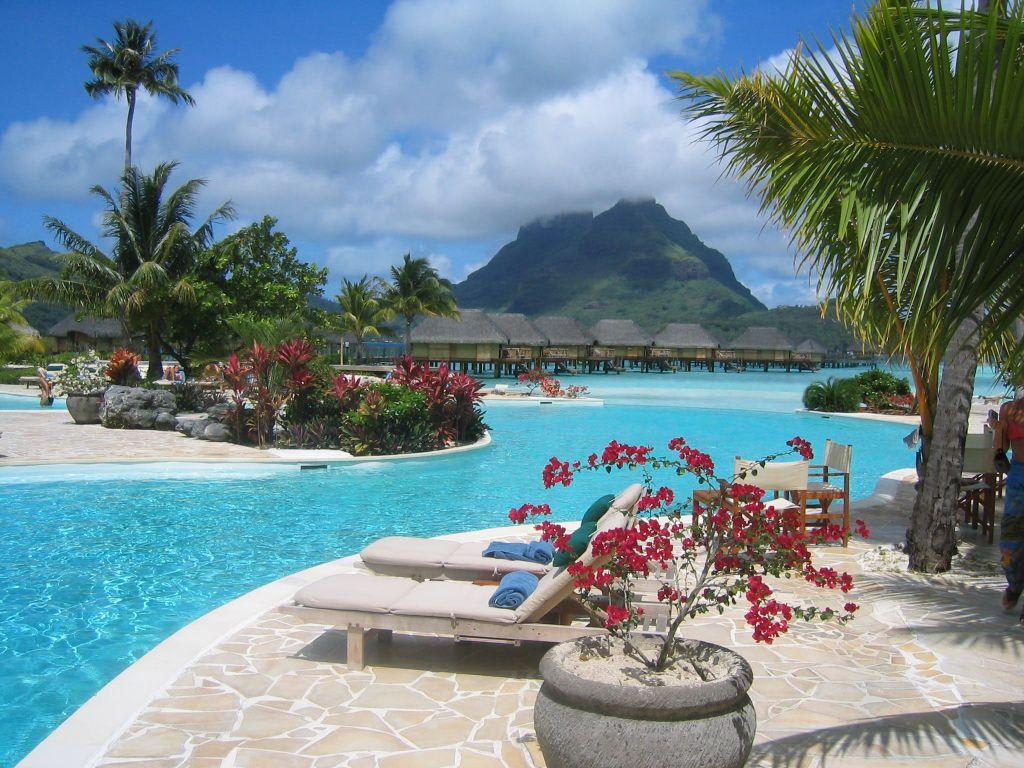 bild pool zu hotel bora bora pearl beach resort spa in bora bora. Black Bedroom Furniture Sets. Home Design Ideas