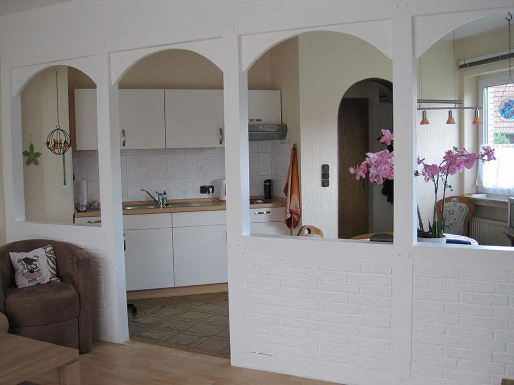 wohnzimmer mit kuche einrichten: ferienwohnung herklotz in seiffen, Hause ideen