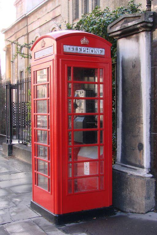 Bild Typisch englische Telefonzelle zu City of London in