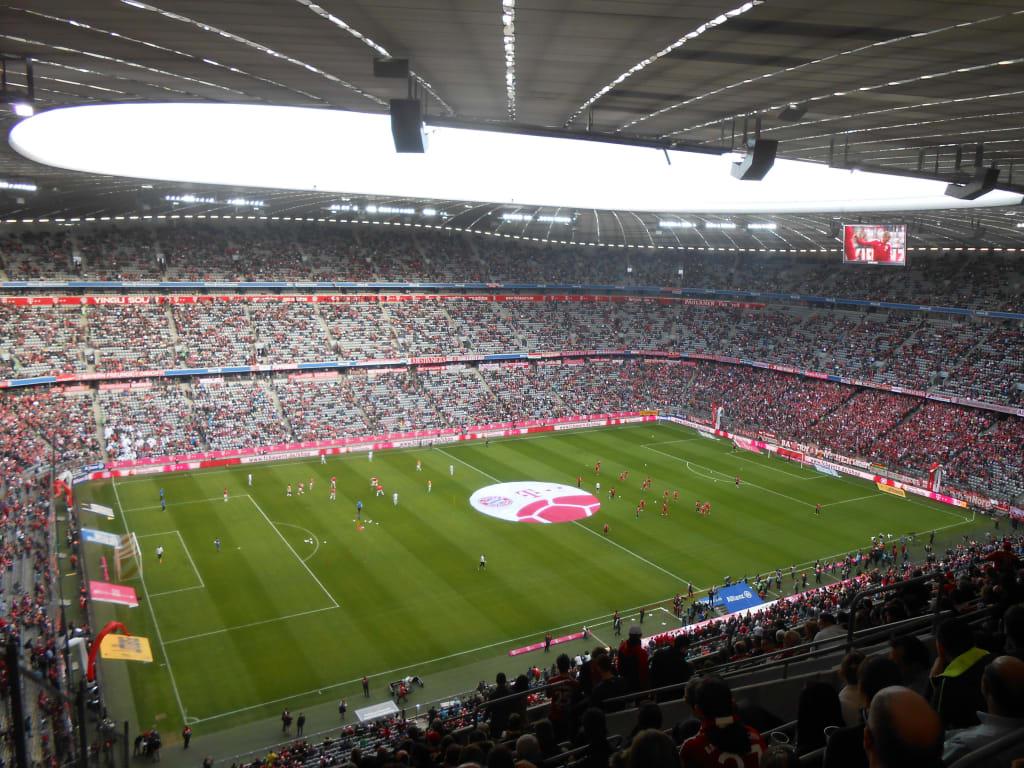 Bild Im Stadion Sicht aus Block 348 zu Allianz-Arena in