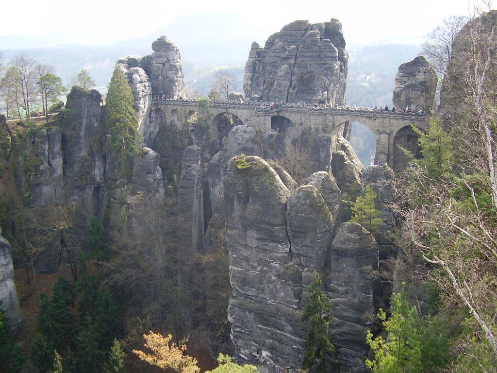 Basteibrücke im Elbsandsteingebirge Bilder Sonstige Sehenswürdigkeit Elbsandsteingebirge