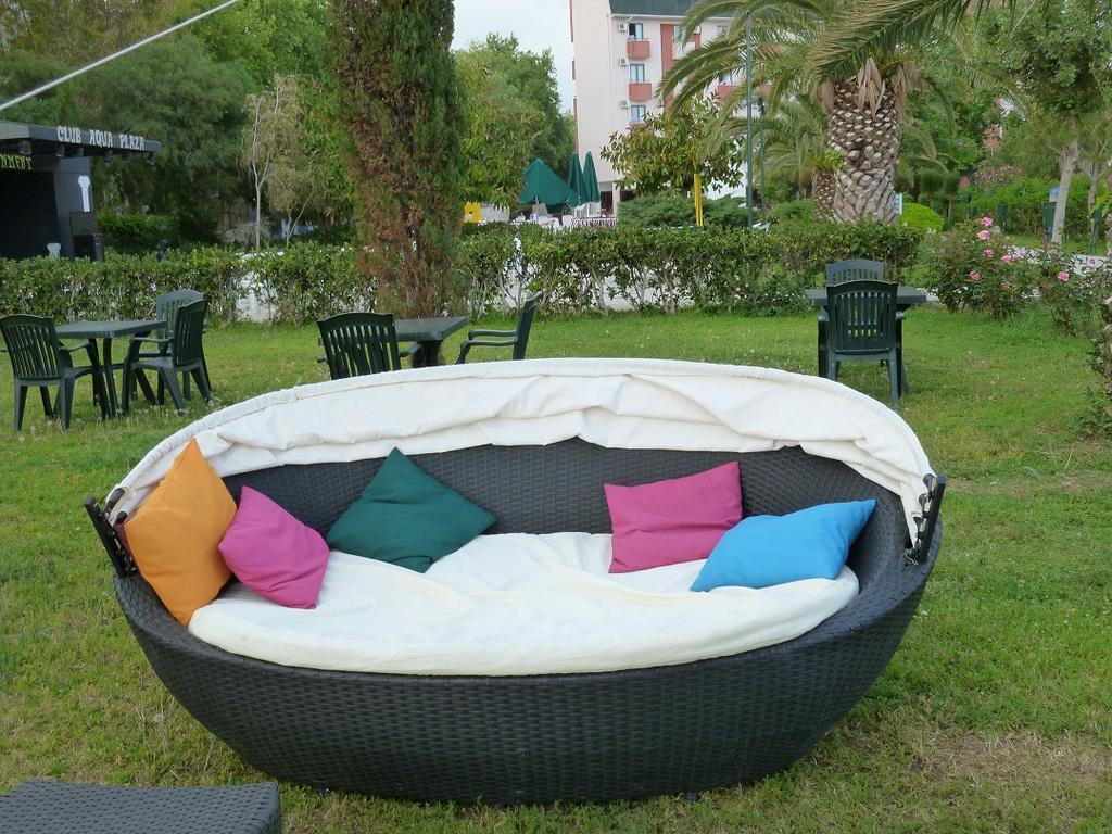 bild rattan strand muschel zu hotel club aqua plaza in. Black Bedroom Furniture Sets. Home Design Ideas