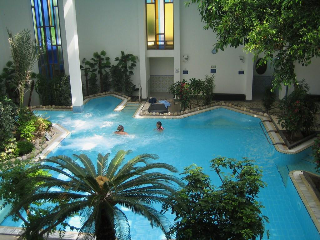 bild wintergarten pool zu hotel terme la reginella in lacco ameno. Black Bedroom Furniture Sets. Home Design Ideas
