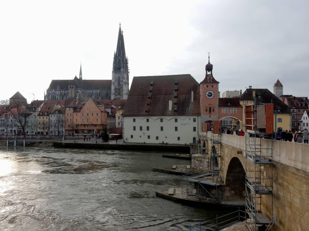 Regensburg Blick auf die Altstadt