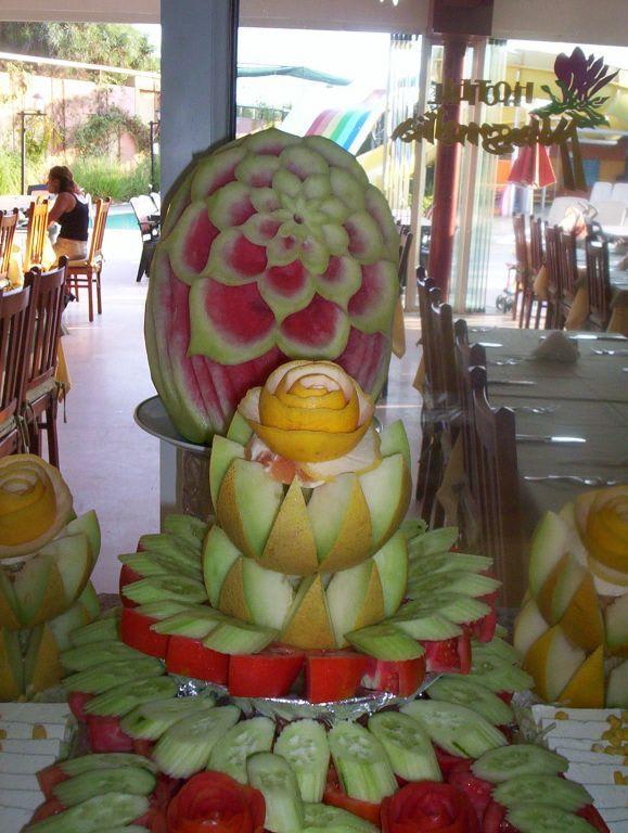 Bild dekoration beim essen zu hotel magnolia in avsallar for Dekoration essen
