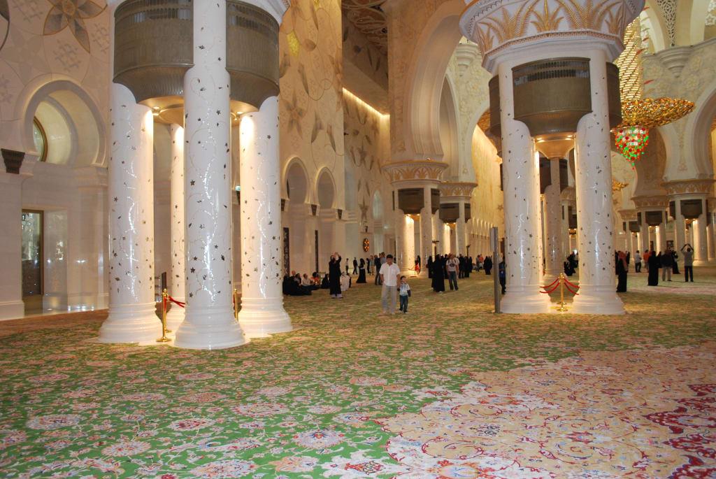 Bild Der riesige Teppich zu Scheich Zayed Grand Moschee