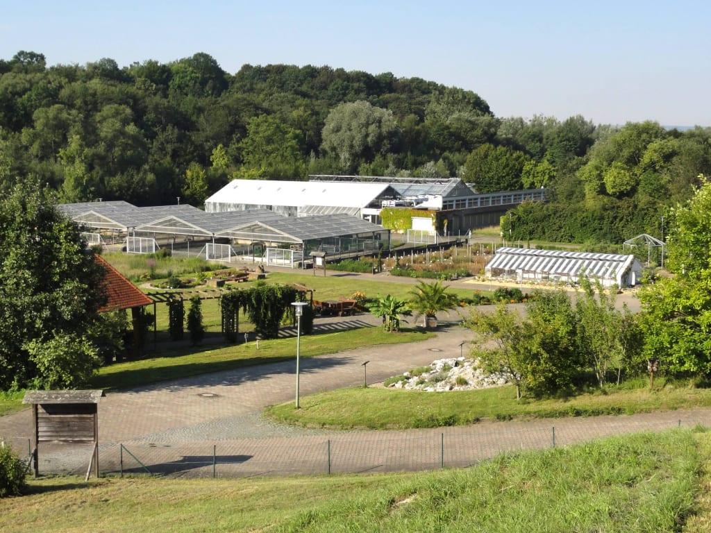 Bild Blick Auf Die Gewächshäuser Zu Experimenteller Botanischer