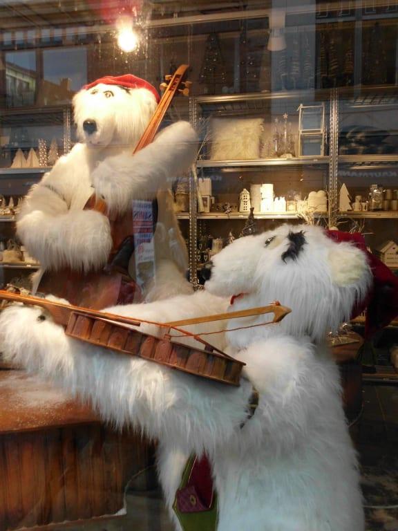 Bild Weihnachtsdeko Im Schaufenster Zu Kopenhagen In Kopenhagen