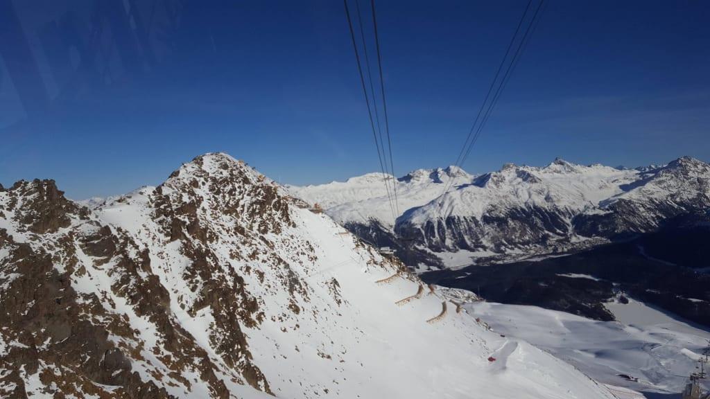Bild Audi Freier Fall Abfahrt Zu Piz Nair In St Moritz