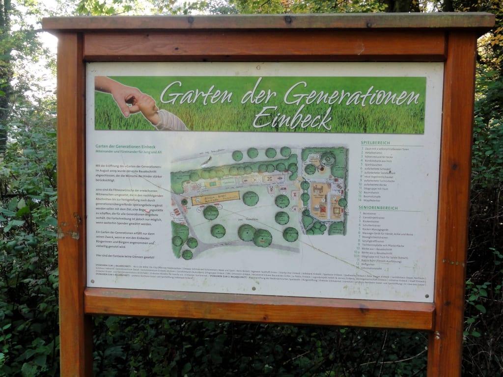 Bild Wegweiser Zum Garten Der Generationen Zu Stiftsgarten Einbeck