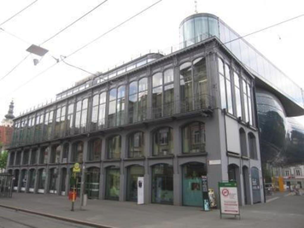 Bild das eiserne haus zu grazer kunsthaus in graz for Modernes haus graz