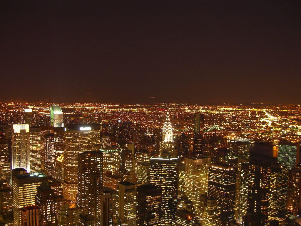 New York Bei Nacht Bilder Stadt/Ort New York   Manhattan