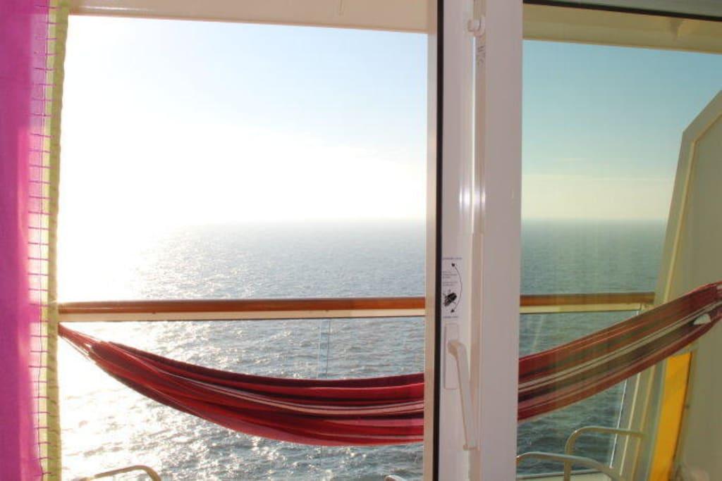 Bild Balkon Kabine 12211 Mit Hangematte Zu Aidasol In