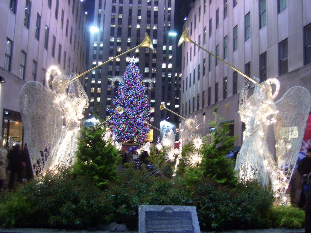 Bild der weihnachtsbaum zu weihnachtsbaum am rockefeller center in new york manhattan - Weihnachtsbaum rockefeller center ...