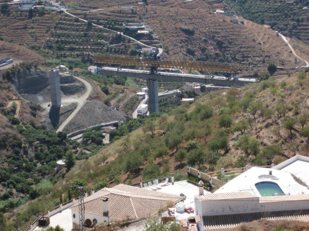 Bau der autobahn in ca 1km luftlinie bilder ausblick ferienhaus