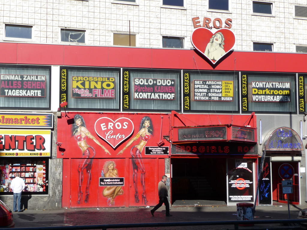 bild eros center auf st pauli zu reeperbahn auf st pauli in hamburg. Black Bedroom Furniture Sets. Home Design Ideas
