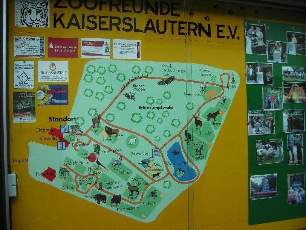 Plattegrond Zoo Kaiserslautern