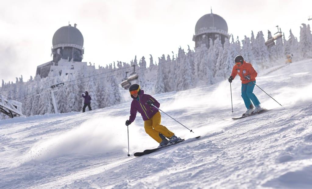 Bild Skifahren Am Grossen Arber Zu Skigebiet Grosser Arber In Bodenmais