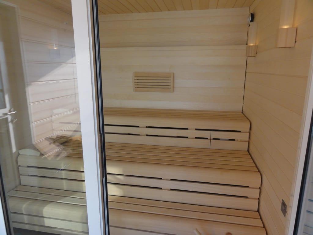 bild die eigene sauna der wellness suite zu aidasol in. Black Bedroom Furniture Sets. Home Design Ideas