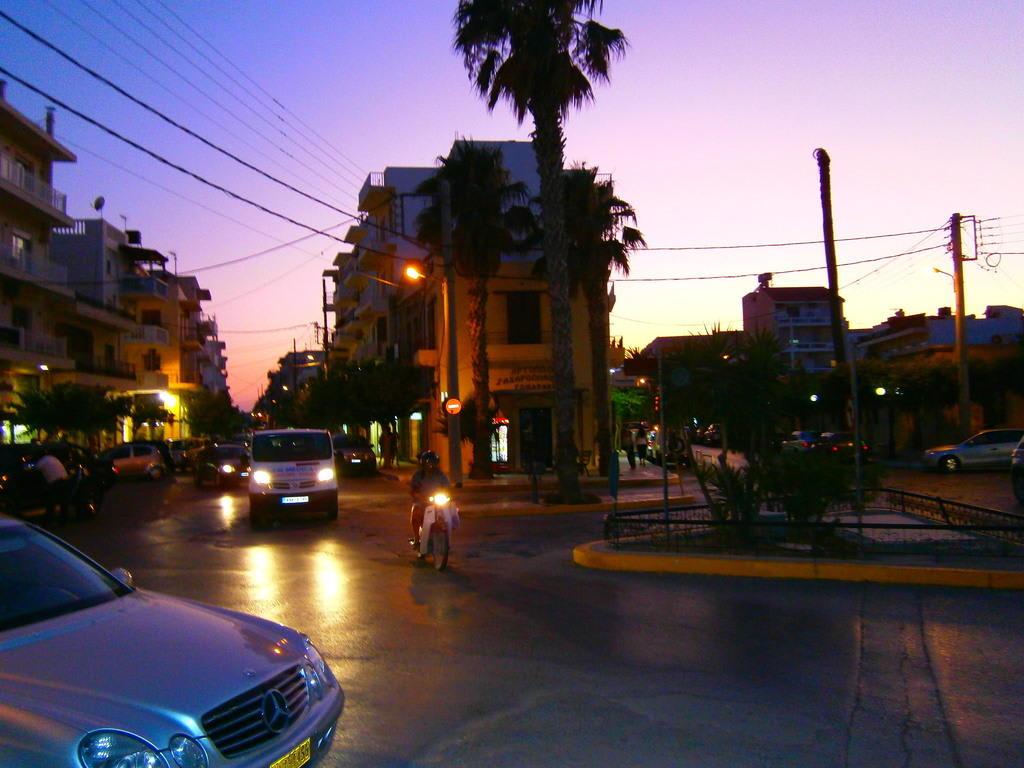 abend in der stadt