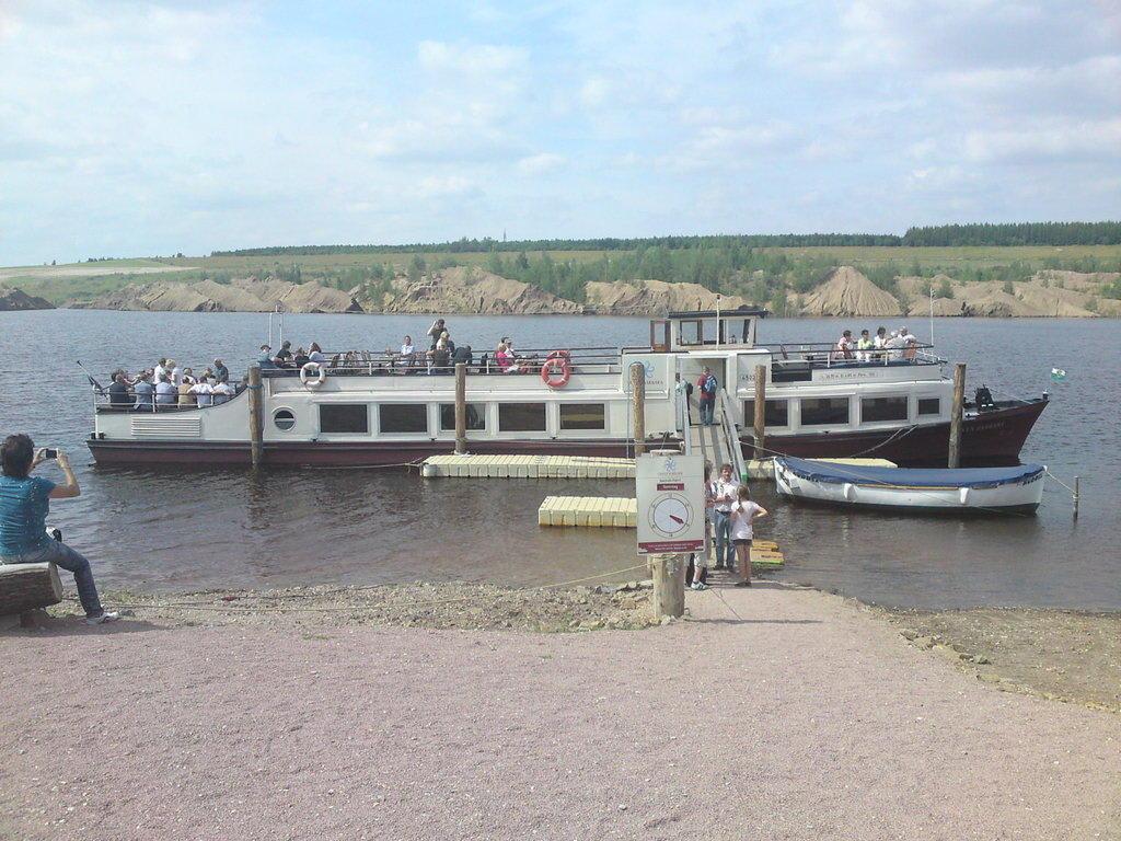 Leipzig Fluss bild ms santa barbara zu leipzig in leipzig