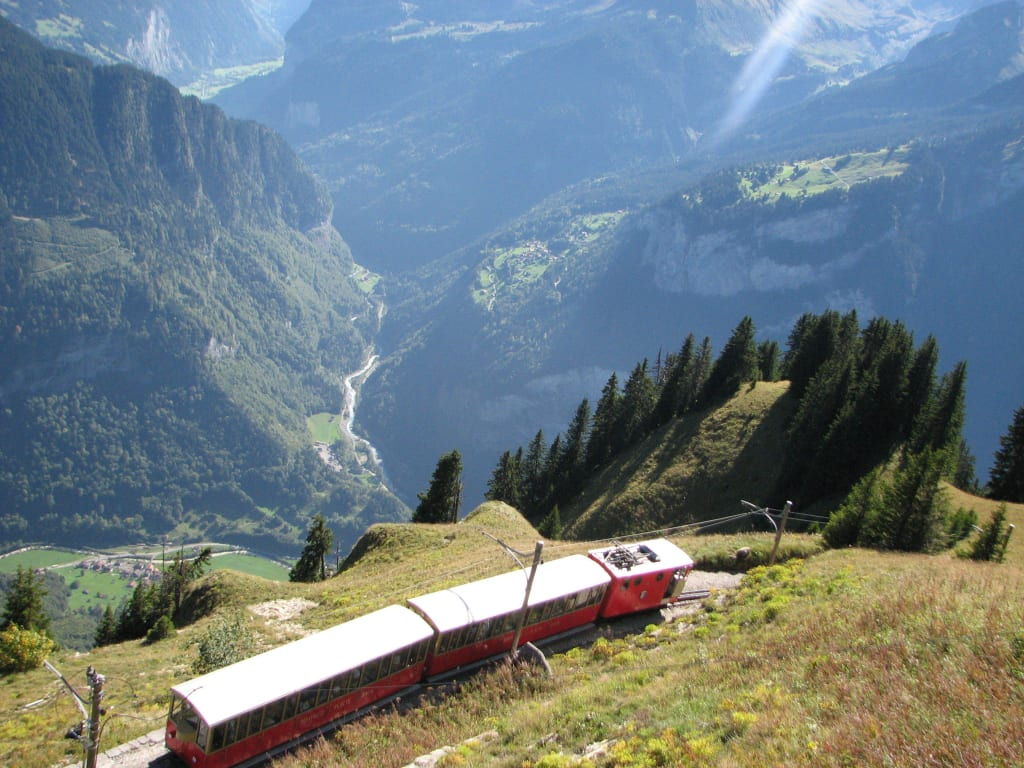 The old cogwheel train to the Alpine Garden
